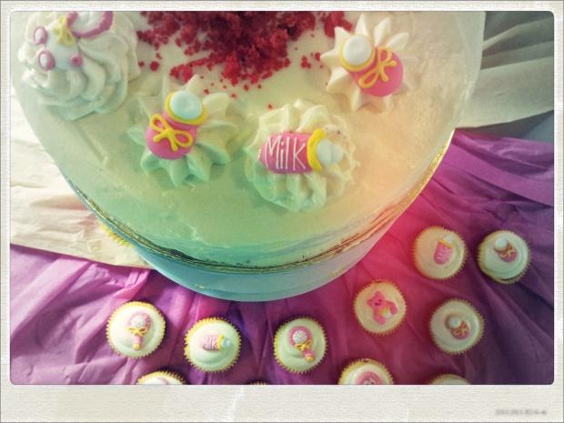 Ia's baby andi baptismal cake :) yum!