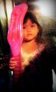 Guitar Balloon and Chloe