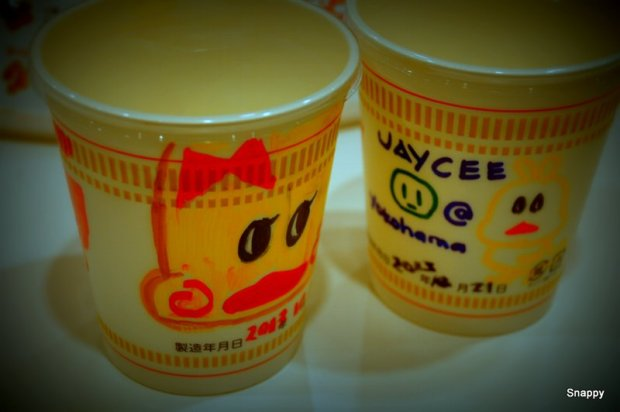 our cups, now with cute design (haha, i need creative lessons from kids..their designs are better than ours!)