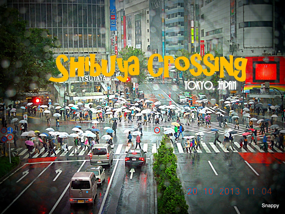 Shibuya Crossing on a rainy day