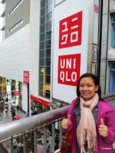 at my favorite: Uniqlo-- Tokyo version :)
