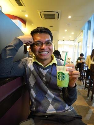 we rested at Starbucks at Akihabara. we were so tired!