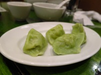 green gyozas