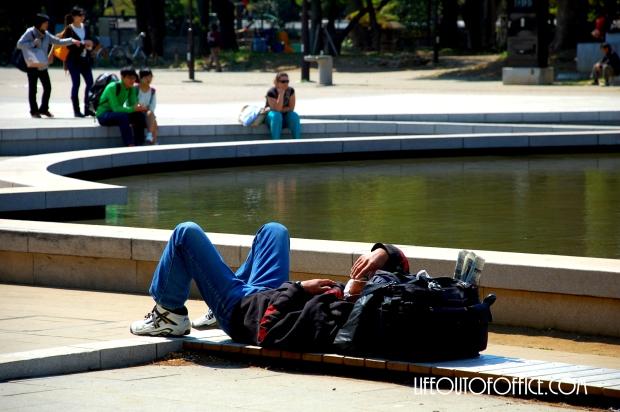 [Ueno Park] peace under the sun