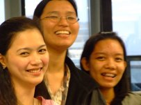 with Irene and Thea