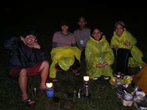we were in plastic raincoats