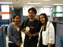 With Sir Art and Trish